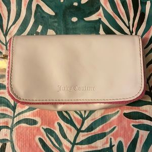 Juicy Couture White Faux Leather Makeup Bag Clutch